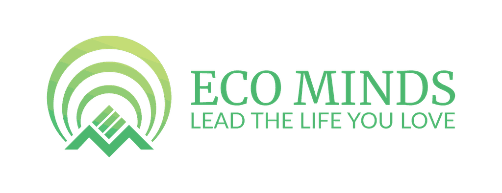 Eco Minds Logo with Text Lead the Life you Love