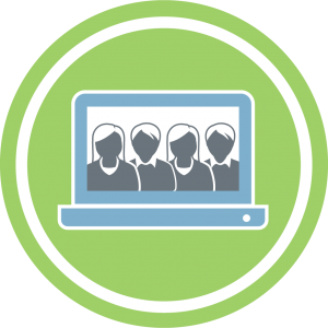 icon of instructors on computer